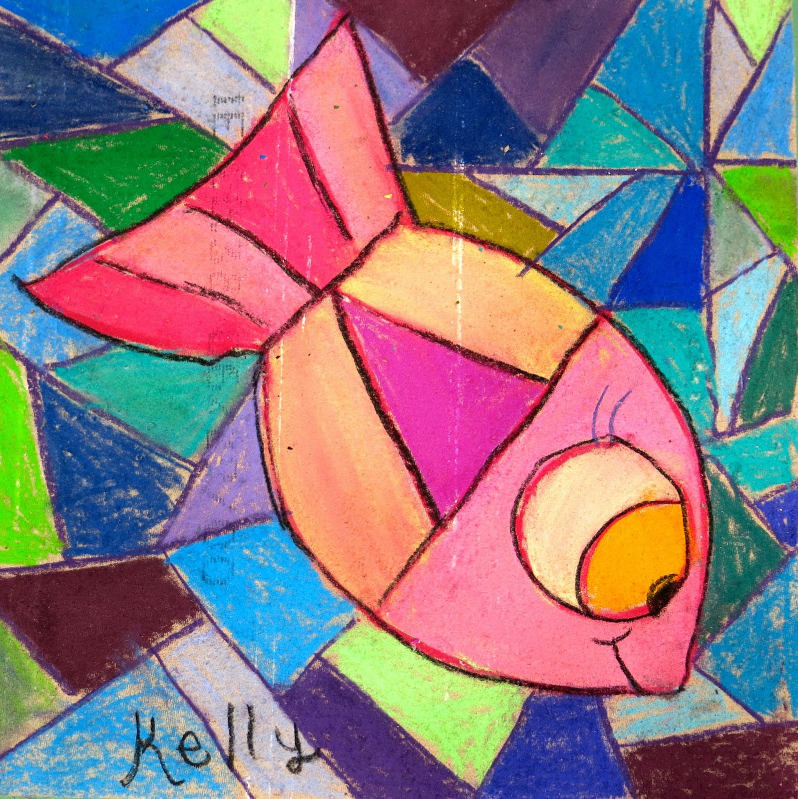 Cassie Stephens In The Art Room Chalked Fish Ceiling Tile
