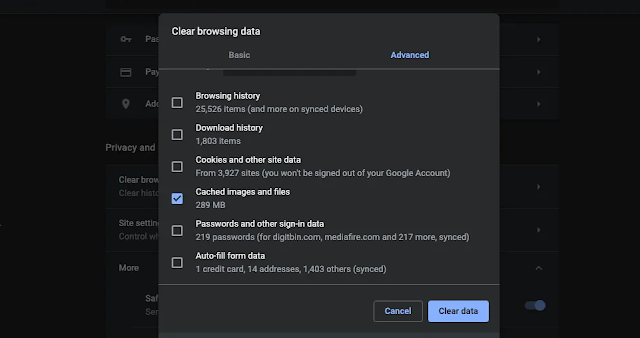 Clear Cache and Data Tips for Speeding Up your Google Chrome Browser on PC
