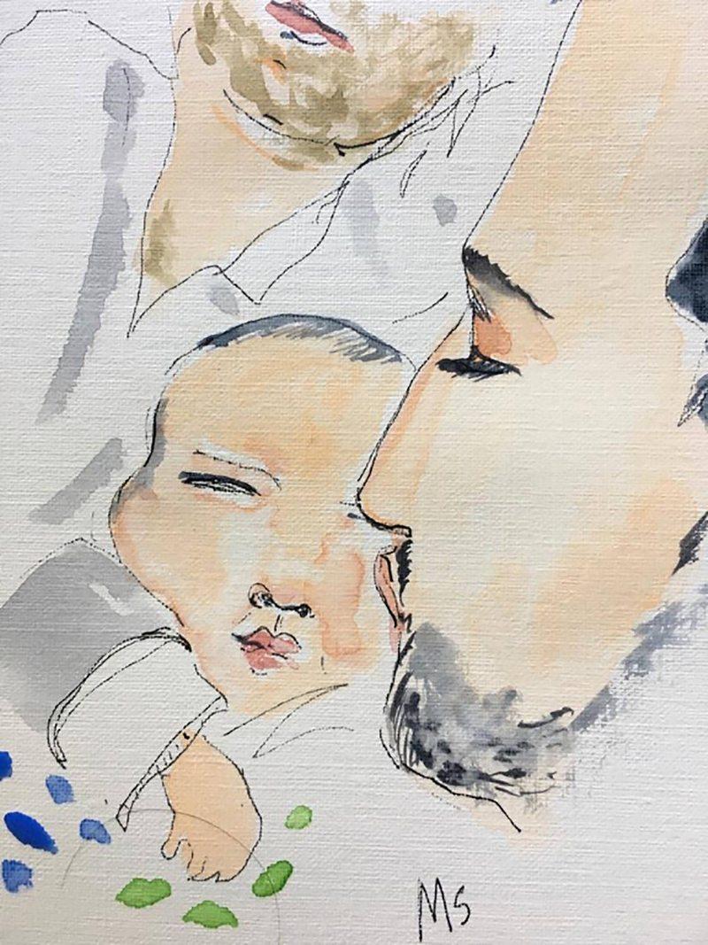 Juan Yarur y su hija de 3 meses