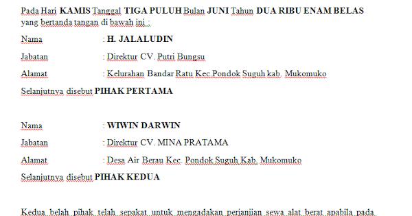 Contoh Surat Izin Masuk Alat Berat - Edukasi.Lif.co.id