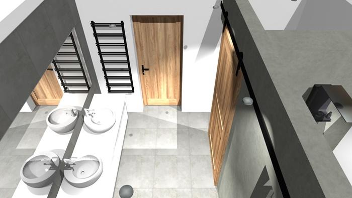 Projekt łazienki - pierwowzór