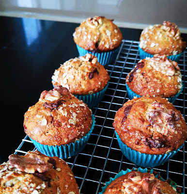 banana, nutella and walnut muffin recipe from What Claire Did