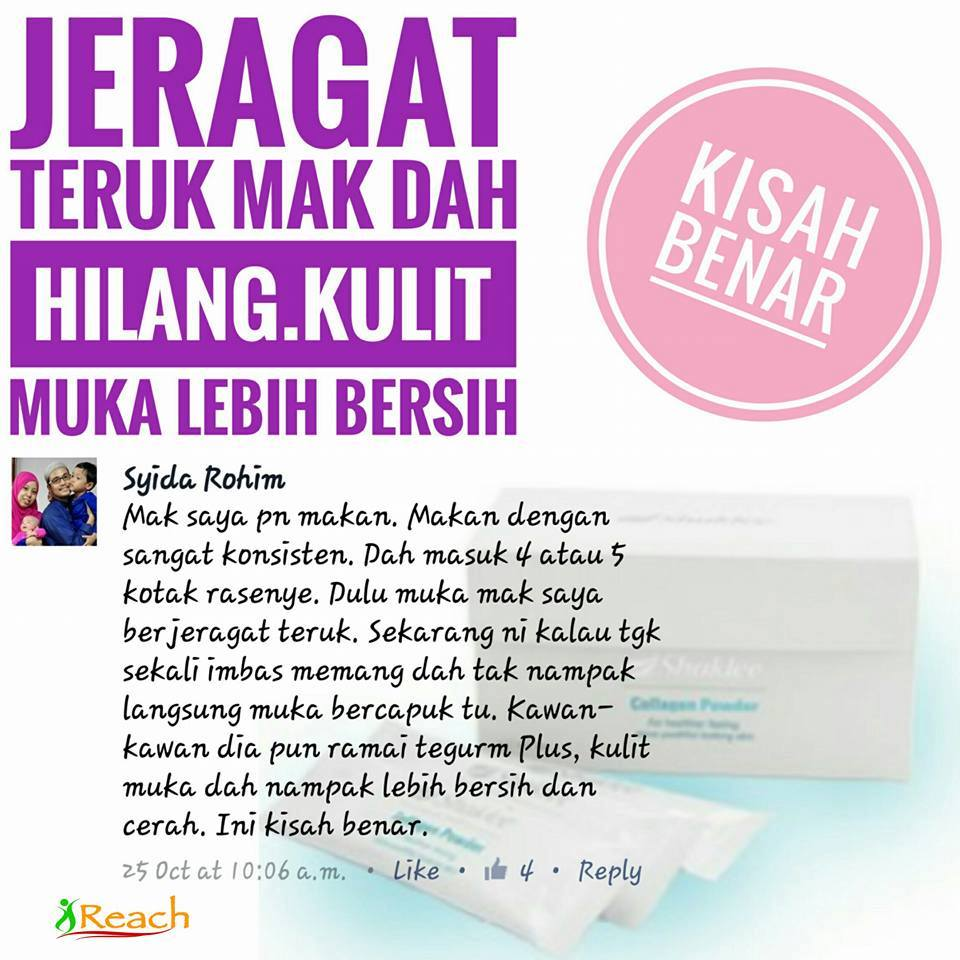 Testimonial Collagen Powder Shaklee
