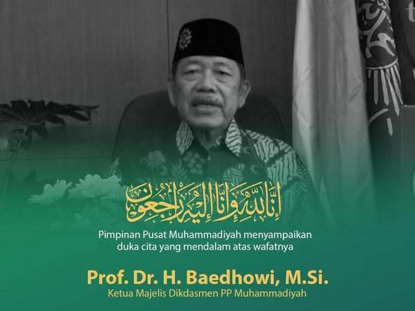 Ketua Majelis Dikdasmen PP Muhammadiyah Prof Baidhowi Wafat