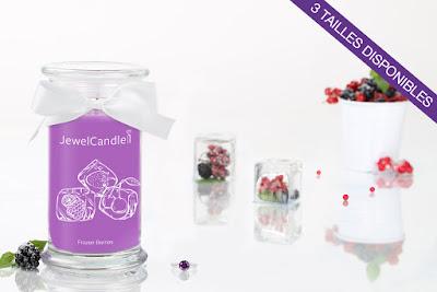Bougie parfumée avec Bague Frozen Berries JewelCandle