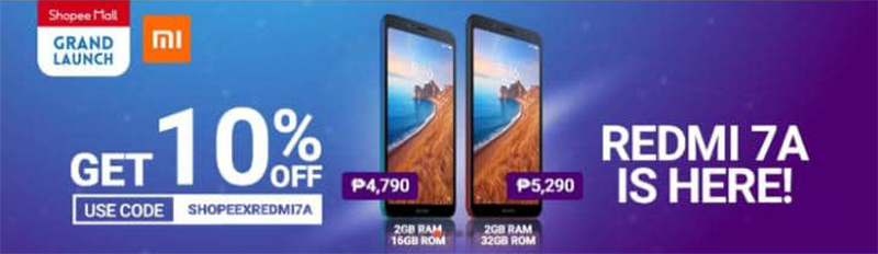 Sale Alert: Redmi 7A comes with 10 percent off on Shopee until August 15!