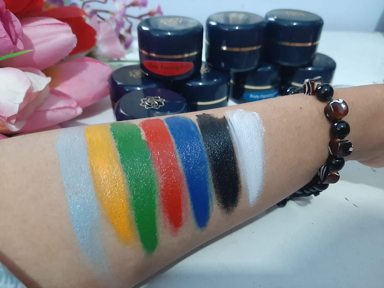 varian warna viva body painting