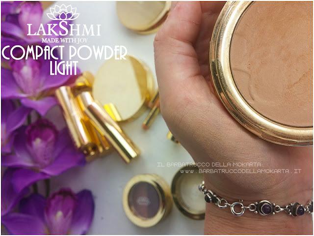 cipria compatta swatches compact powder  lakshmi makeup vegan ecobio