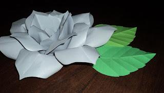 Flor de Tutorial de Artesania y hoja con el molde de PaoPaoCraft