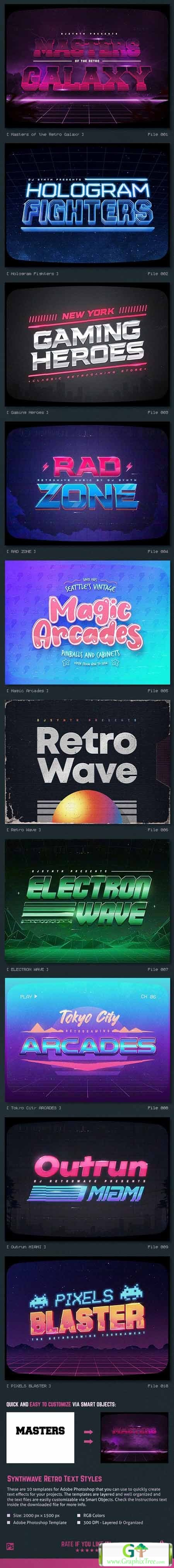 Graphicriver Synthwave 80s Retro Text Effects V3 26742705