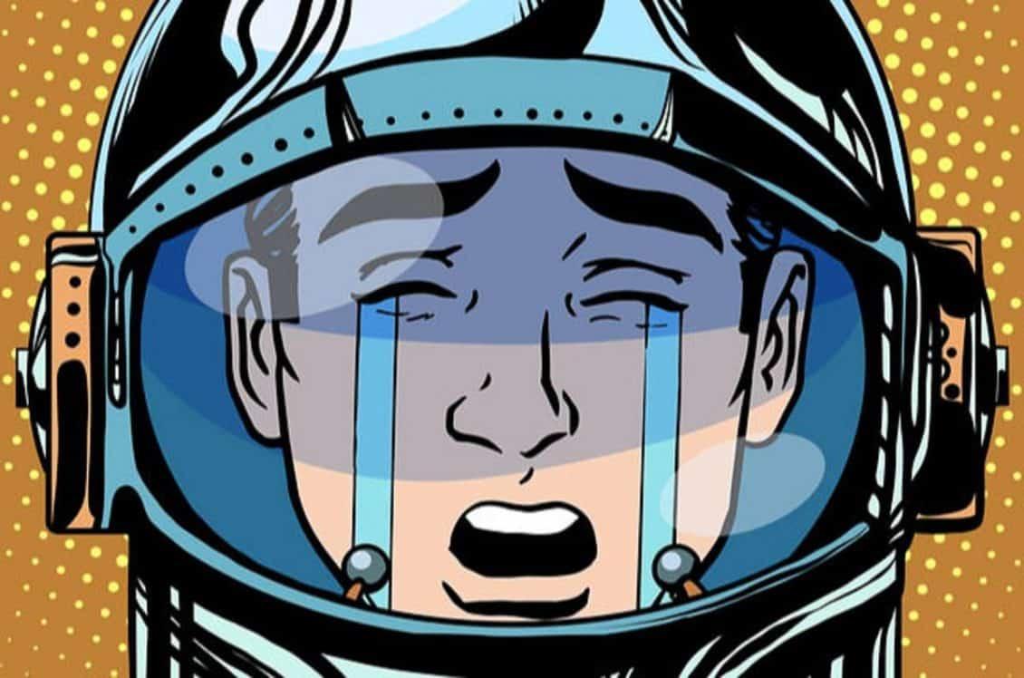 Astronauta chorando