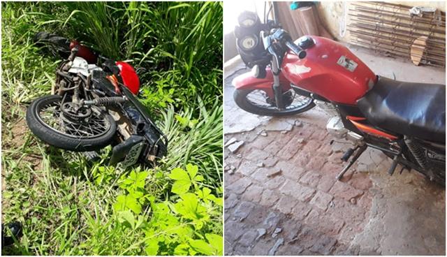 Polícia Militar de Cachoeira dos Índios recupera moto que foi furtada na cidade de Cajazeiras