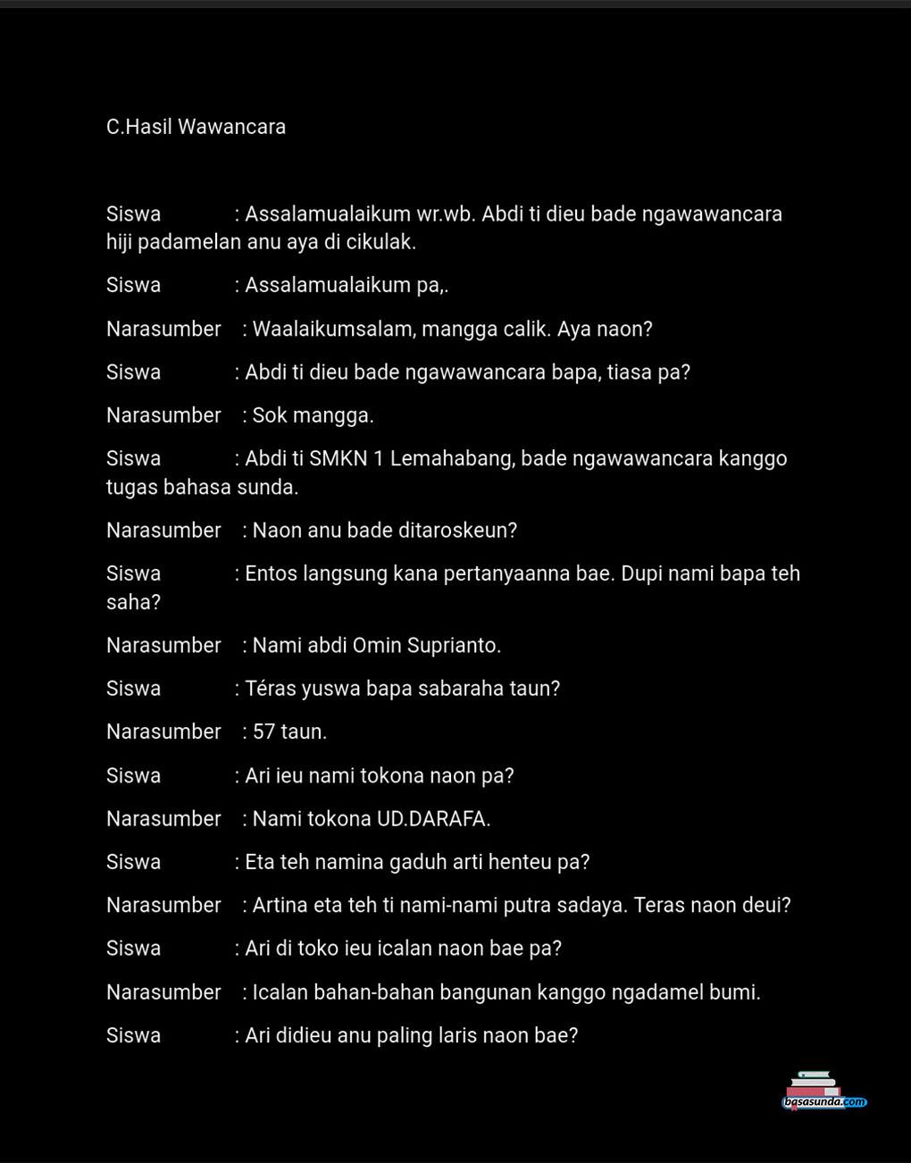 Contoh Makalah Laporan Kegiatan Bahasa Sunda