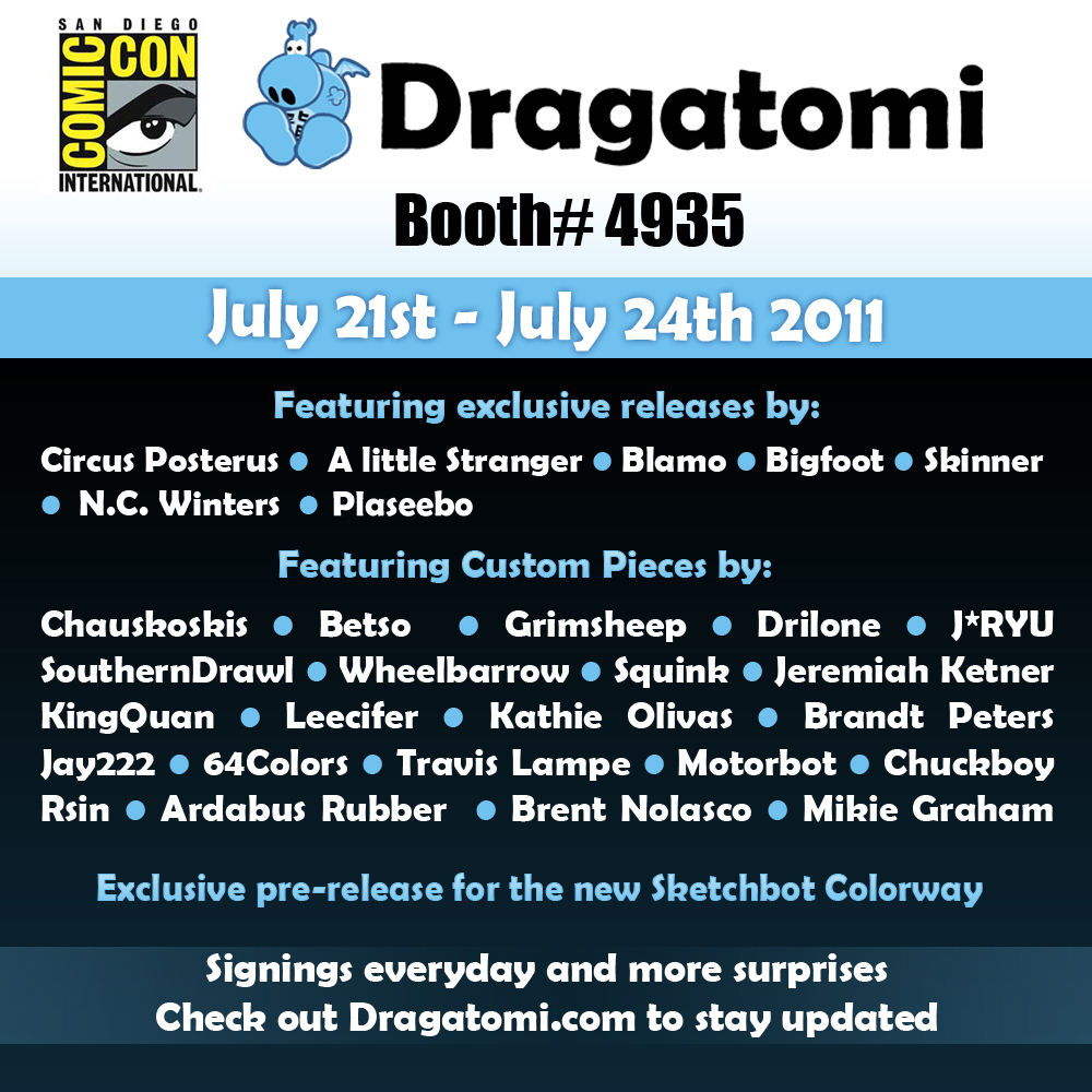 San Diego Comic Con 2011 Signing and Booth info