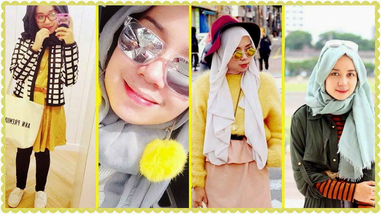 80 Gambar Terbaru Tutorial Hijab Dengan Anting Pom Pom Bisa
