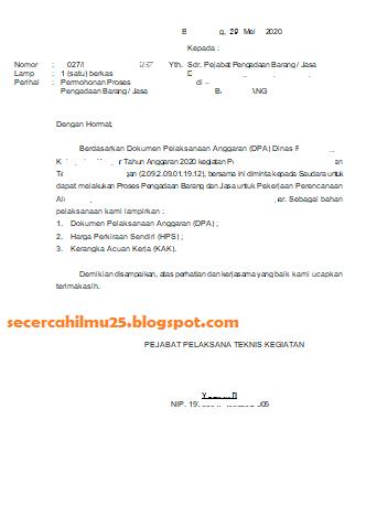 Contoh Surat Permohonan Pengadaan Barang : contoh, surat, permohonan, pengadaan, barang, Format, Surat, Permohonan, Proses, Pengadaan, Barang, Secercah