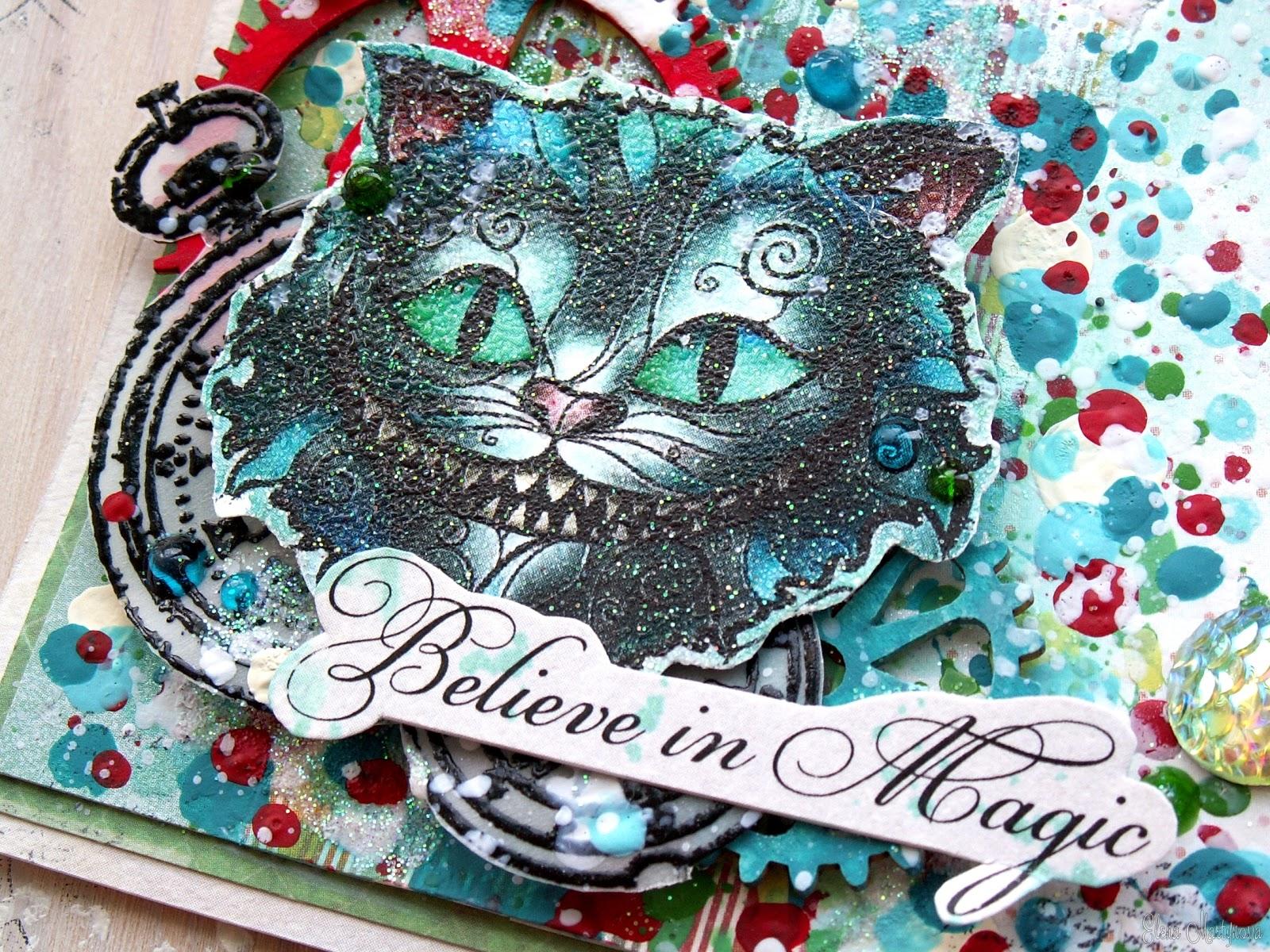 Цветами поздравления, открытки с чеширским котом