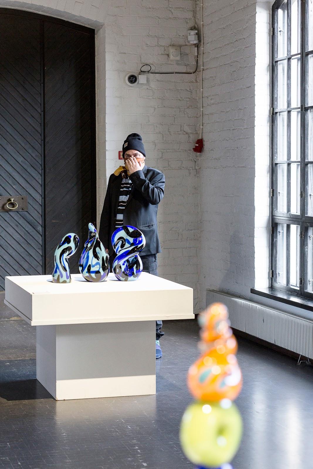 Suomen Lasimuseo, Riihimäki, museo, museum, glassmuseum, visitfinland, suomi, experience, travel, valokuvaaja, Frida Steiner, visualaddictfrida, näyttely, taide, taidenäyttely, galleria, EGS, graffititaiteilija, writing stories with three letters