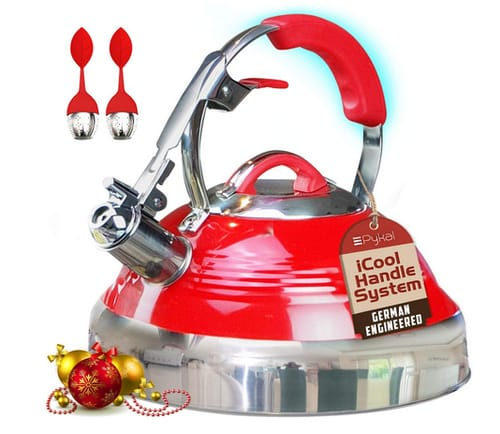 Pykal The Red Hotness Whistling Tea Kettle