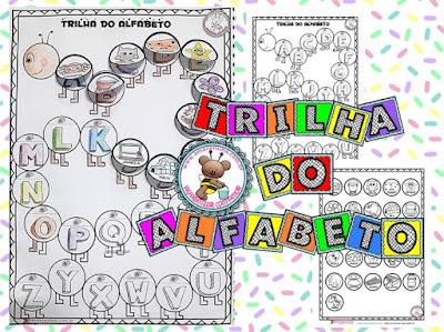 1º ano, Atividade de Alfabetização, Atividades com o Alfabeto, Atividades com ordem alfabética, Trilha do alfabeto, Atividades 1 ano, atividades para alfabetização infantil,
