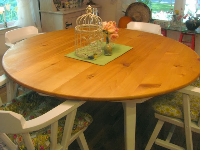 refinished pine table