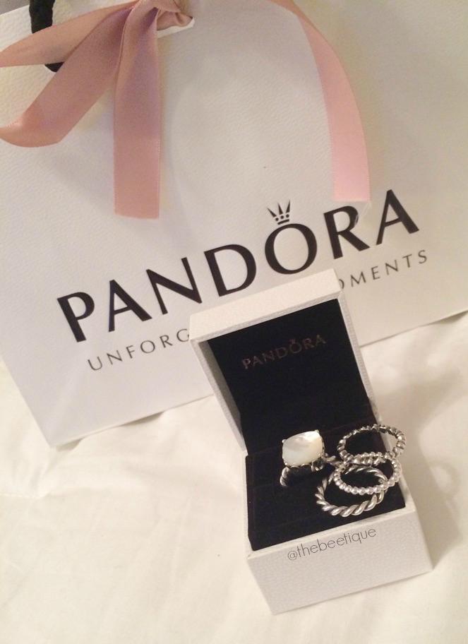 Pandora S Hidden Gem Dainty Rings The Beetique