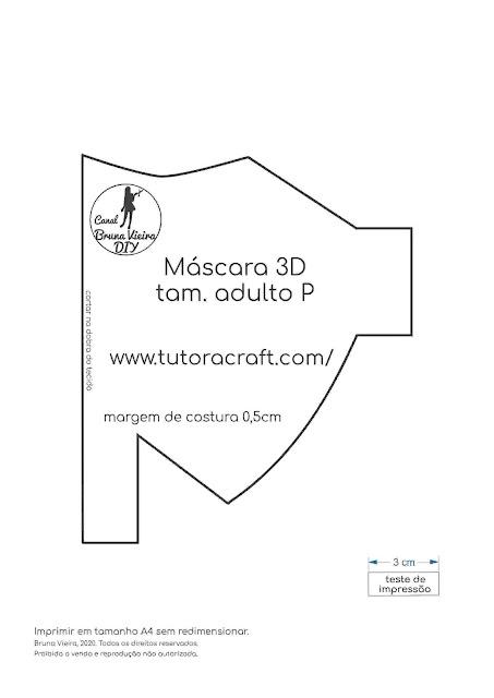 Novo modelo de máscara 3D adulto p com molde gratuito