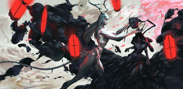 Anton Oxenuk artstation deviantart arte ilustrações fantasia sombria