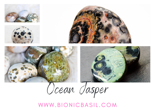 Colouring with Cats ©BionicBasil® Crystal of The Week - Ocean Jasper
