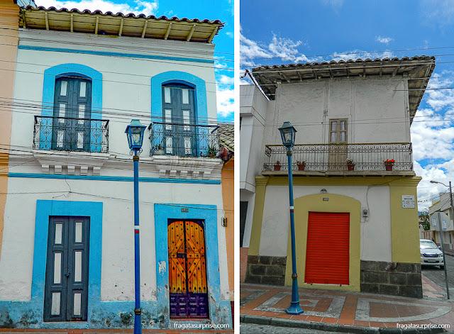 Casario típico da cidade de Cotacachi, Equador