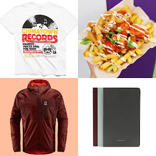 Hatch Student specials autumn collage with food jumper notebook