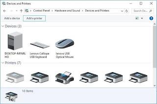 Mengatur Setting untuk menghubungkan ke printer wireless