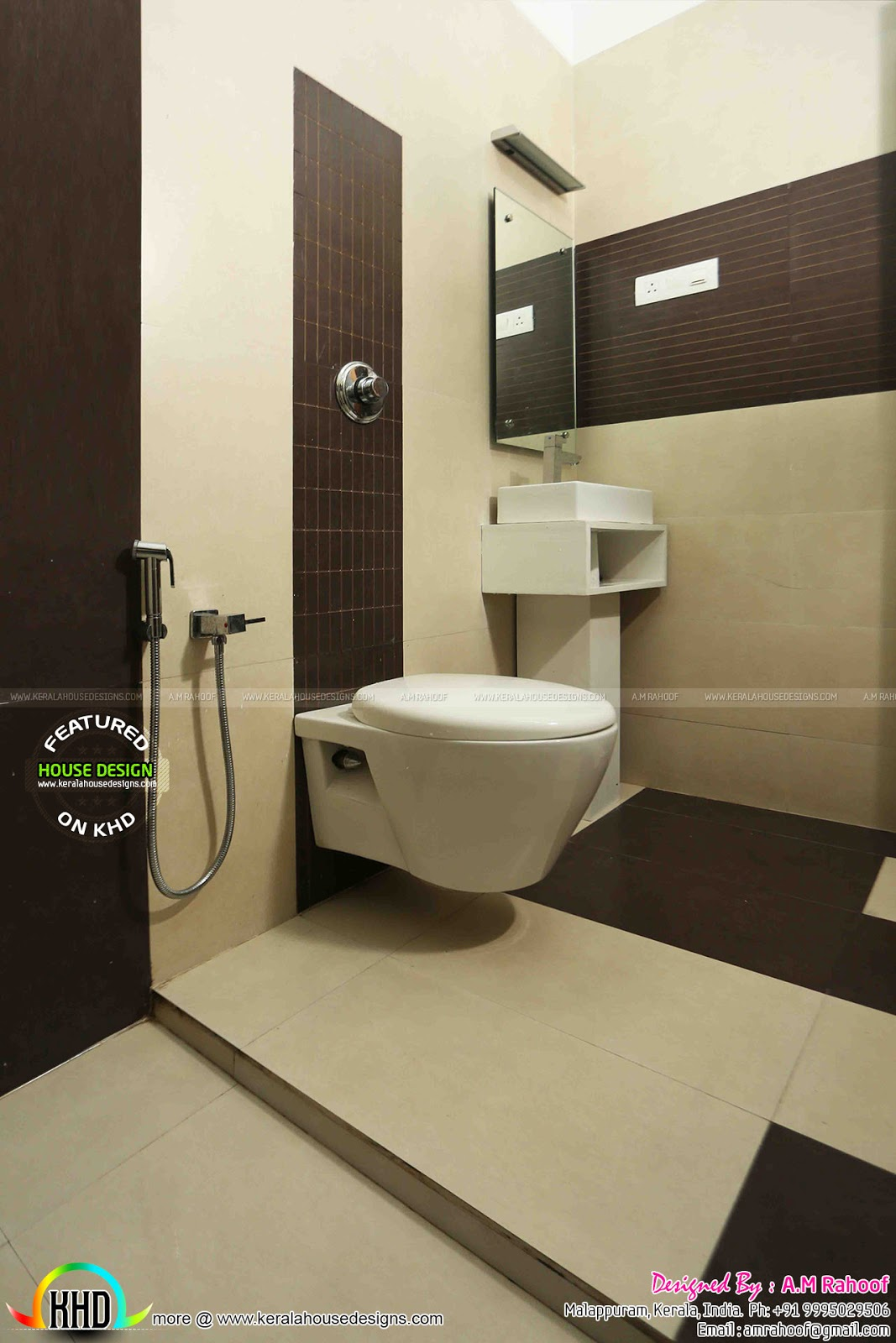 finished house project in kerala bathroom bathroom