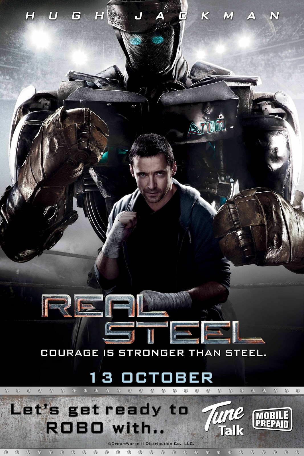 Paulting S Pit Movie Review Real Steel 2011
