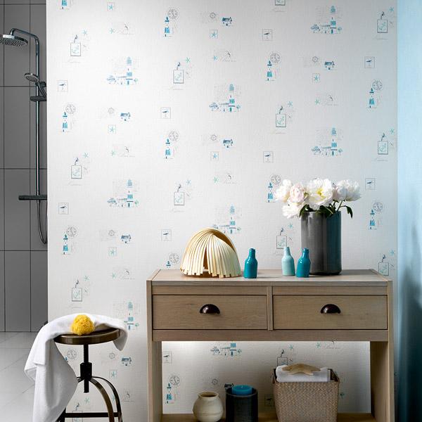 Papel pintado papel pintado la maison cocinas y ba os for Papel para pared de cocina