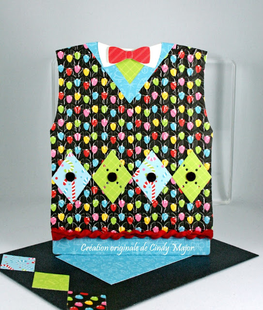 Sunny Studio Stamps: Sweater Vest Dies Christmas Customer Card by Cindy Major