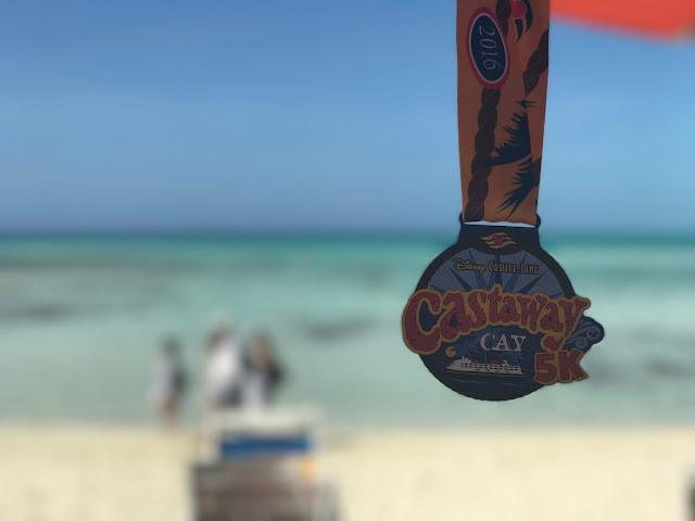 castaway cay 5k race disney cruise line run disney island vacation medal race review