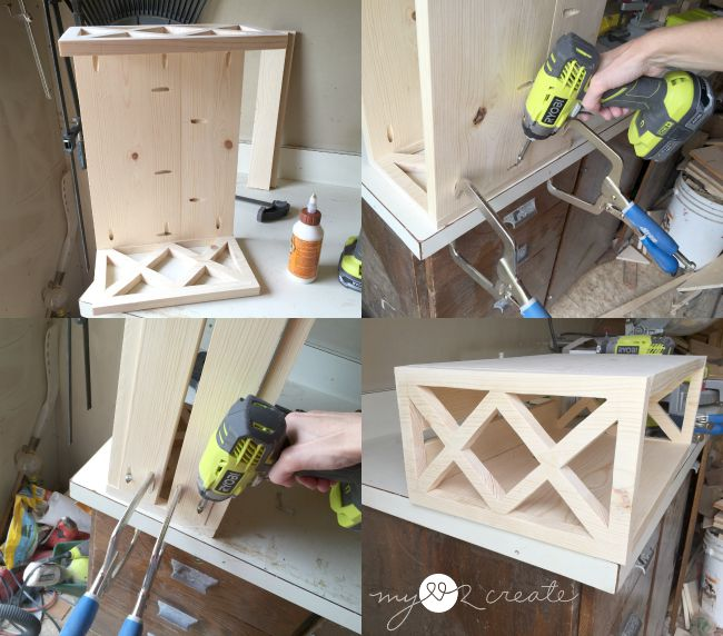 building floating night stand