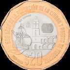 Anverso moneda de Veracruz