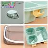 Lunchbox Kotak Makan 3 Grid Dengan Kotak Sup Dan Sendok 850ml