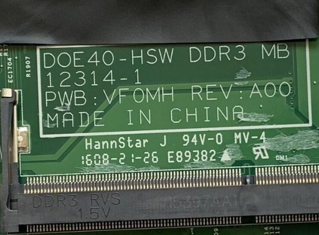 12314-1 D0E40-HSW DDR3 MB PWB VF0MH REV A00 Dell 14R 5437 Bios