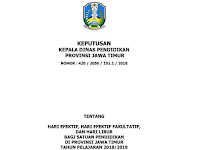 Kalender Pendidikan 2018/2019 Jawa Timur