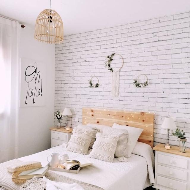 Wallpaper Dinding Kamar Tidur Aesthetic Romantis