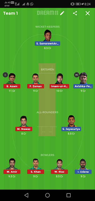SL vs PAK Dream11 Match Prediction | 1st ODI | Sri Lanka Tour of Pakistan | Fantasy Team, News, Playing 11, Squads