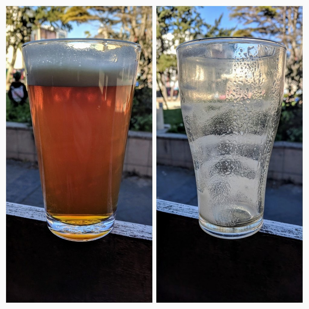 Before and After with a pint