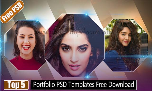 Portfolio PSD templates free download, Photography templates free psd