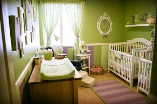 Dormitorios color verde para beb s dormitorios colores y - Habitaciones para bebes gemelos ...