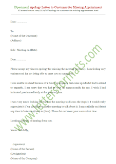 how to write an apology letter for missing appointment