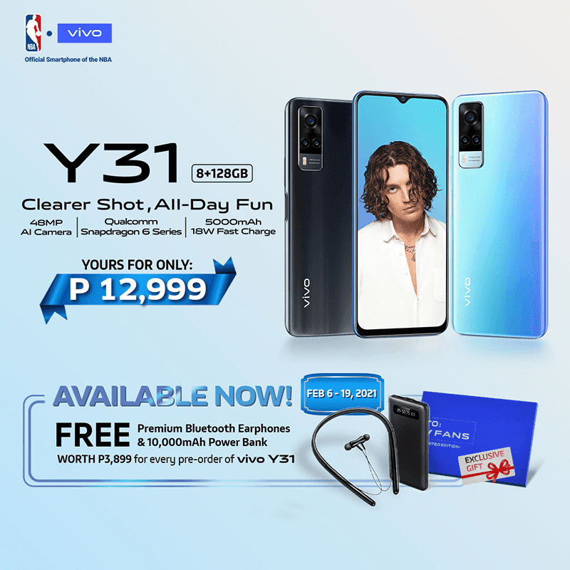 With FREE wireless earphones and a power bank until February 19, 2021