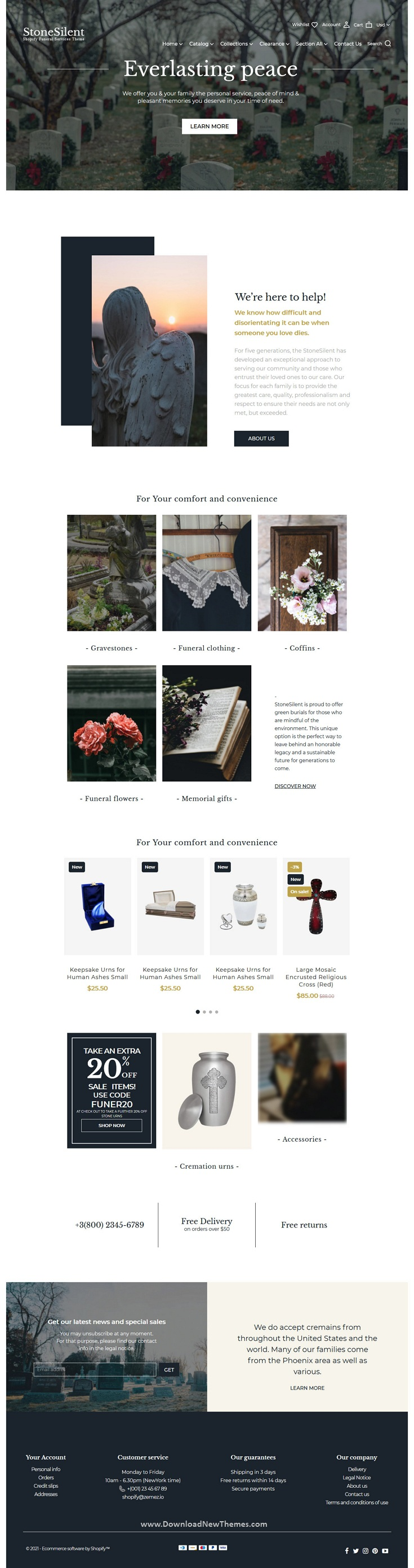 Funeral Services Shopify Theme
